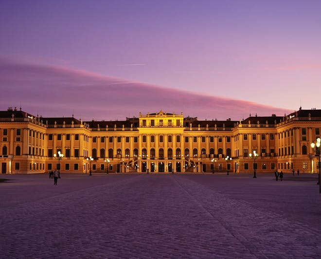 The Schönbrunn Palace, in Vienna