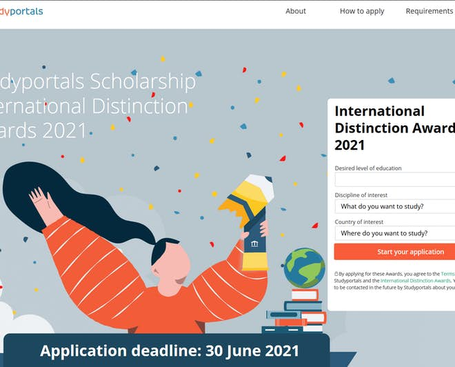 Studyportals Scholarship: International Distinction Awards