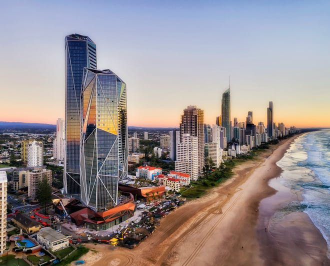 The Australian Gold Coast in Queensland Surfers Paradise